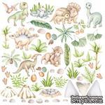 Лист с картинками для вырезания Dinosauria 30,5х30,5 см, ТМ Фабрика Декора - ScrapUA.com