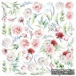 Лист с картинками для вырезания Peony garden 30,5х30,5 см, ТМ Фабрика Декора - ScrapUA.com