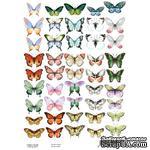 Набор картинок для декорирования Бабочки 1 А4, ТМ Фабрика Декору - ScrapUA.com