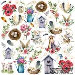 Лист с картинками для вырезания Easter, ТМ Фабрика Декора - ScrapUA.com