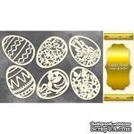 Набор чипбордов Пасхальные яйца, цвет золото, ТМ Фабрика Декора - ScrapUA.com