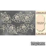 Набор чипбордов Розы 343, цвет молочный, ТМ Фабрика Декора - ScrapUA.com