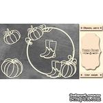 Набор чипбордов Круглая рамка с тыквой #474 color_Milk, ТМ Фабрика Декору - ScrapUA.com