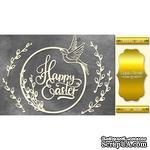 Набор чипбордов Happy Easter 496, цвет золото, ТМ Фабрика Декора - ScrapUA.com