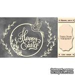 Набор чипбордов Happy Easter 496, цвет молочный, ТМ Фабрика Декора - ScrapUA.com