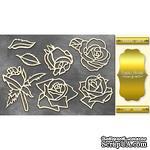 Чипборд Фабрика Декору - Розы, цвет золото - ScrapUA.com