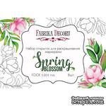 Набор открыток для раскрашивания аква чернилами Spring Blossom, ТМ Фабрика Декора - ScrapUA.com