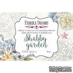 Набор открыток для раскрашивания аква чернилами Shabby garden, ТМ Фабрика Декора - ScrapUA.com