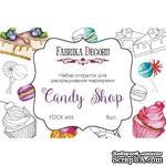 Набор открыток для раскрашивания маркерами Candy shop, ТМ Фабрика Декору - ScrapUA.com