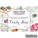 Набор открыток для раскрашивания аква чернилами, акварелью Candy shop, ТМ Фабрика Декору - ScrapUA.com