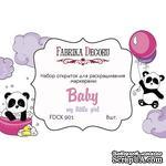 Набор открыток для раскрашивания маркерами My little baby girl, ТМ Фабрика Декора - ScrapUA.com