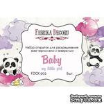 Набор открыток для раскрашивания аква чернилами My little baby girl, ТМ Фабрика Декора - ScrapUA.com
