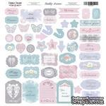 Лист с высечками, коллекция Shabby dreams,  30,5х30,5см, ТМ Фабрика Декора - ScrapUA.com