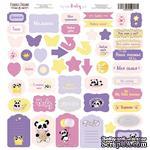 Лист с высечками, коллекция My little baby girl,  30,5х30,5см, ТМ Фабрика Декора - ScrapUA.com