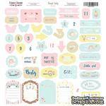 Лист с высечками, коллекция Sweet baby girl,  30,5х30,5см, ТМ Фабрика Декора - ScrapUA.com