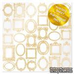 Ацетатный лист с фольгированием Golden Frames 30,5х30,5 см, ТМ Фабрика Декора - ScrapUA.com
