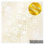 Лист кальки (веллум) с фольгированием Golden Gears 30,5х30,5 см, ТМ Фабрика Декора - ScrapUA.com