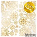 Лист кальки (веллум) с фольгированием Golden Napkins, ТМ Фабрика Декора - ScrapUA.com