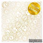 Лист кальки (веллум) с фольгированием Golden Clocks, ТМ Фабрика Декора - ScrapUA.com