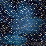 Лист односторонней бумаги с фольгированием Golden stars Night garden,ТМ Фабрика Декора - ScrapUA.com
