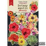 Набор высечек коллекция Botany exotic flowers, ТМ Фабрика Декора - ScrapUA.com