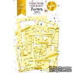 Набор рамок с фольгированием №1 Yellow 39шт, ТМ Фабрика Декору - ScrapUA.com