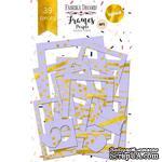 Набор рамок с фольгированием №1 Purple 39шт, ТМ Фабрика Декору - ScrapUA.com