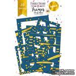 Набор рамок с фольгированием №1 Dark Blue 39шт, ТМ Фабрика Декору - ScrapUA.com