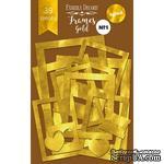 Набор рамок с фольгированием №1 Gold, 39 шт, ТМ Фабрика Декору - ScrapUA.com