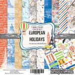 Набор скрапбумаги European Holidays, 30,5x30,5см, Фабрика Декору - ScrapUA.com