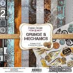 Набор скрапбумаги Grunge&Mechanics 30,5x30,5см, ТМ Fabrika Decoru - ScrapUA.com