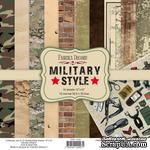 Набор скрапбумаги Military style 30,5x30,5 см, ТМ Фабрика Декора - ScrapUA.com