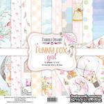 Набор скрапбумаги Funny fox girl 30,5x30,5 см 10 листов, ТМ Фабрика Декора - ScrapUA.com