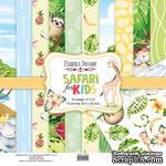 Набор скрапбумаги Safari for kids 30,5x30,5 см 10 листов, ТМ Фабрика Декора - ScrapUA.com