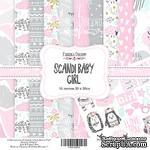 Набор скрапбумаги Scandi Baby Girl, 20x20 см, ТМ Фабрика Декору - ScrapUA.com