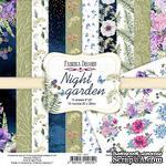 Набор скрапбумаги Night garden 20x20см, TM Fabrika Decoru - ScrapUA.com