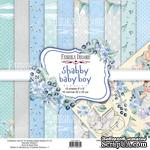 Набор скрапбумаги Shabby baby boy redesign 20x20см, ТМ Фабрика Декора - ScrapUA.com