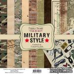 Набор скрапбумаги Military style 20x20 см, ТМ Фабрика Декора - ScrapUA.com