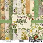 Набор скрапбумаги Summer botanical diary 20x20 см 10 листов, ТМ Фабрика Декора - ScrapUA.com