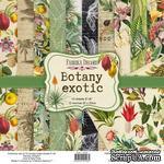 Набор скрапбумаги Botany exotic 20x20 см, ТМ Фабрика Декора - ScrapUA.com