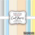 Набор скрапбумаги Cool Stripes, 15х15 см, Фабрика Декору - ScrapUA.com
