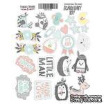 Набор наклеек (стикеров) № 033, Scandi Baby Boy, ТМ Фабрика Декору - ScrapUA.com
