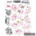 Набор наклеек (стикеров) 035 - Magnolia in bloom, ТМ Фабрика Декора - ScrapUA.com