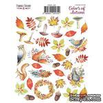 Набор наклеек (стикеров) 35 шт Colors of Autumn 134, ТМ Фабрика Декора - ScrapUA.com