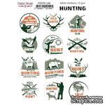 Набор наклеек (стикеров) 12 шт Охота EN #149, ТМ Фабрика Декора - ScrapUA.com