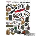 Набор наклеек (стикеров) 40 шт Bushcraft #150, ТМ Фабрика Декора - ScrapUA.com