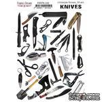 Набор наклеек (стикеров) 34 шт Knives #152, ТМ Фабрика Декора - ScrapUA.com