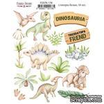 Набор наклеек (стикеров) 16 шт Dinosauria  178, ТМ Фабрика Декора - ScrapUA.com