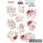 Набор наклеек (стикеров) 9 шт Peony garden 213, ТМ Фабрика Декора - ScrapUA.com