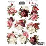 Набор наклеек (стикеров) 10 шт Peony passion 220, ТМ Фабрика Декора - ScrapUA.com